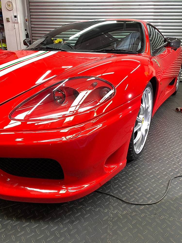 Ferrari 360 car detailing