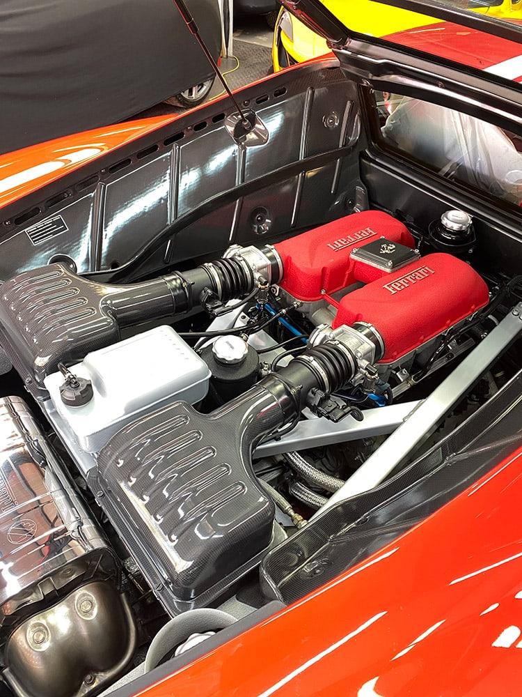 Ferrari 360 engine detailing
