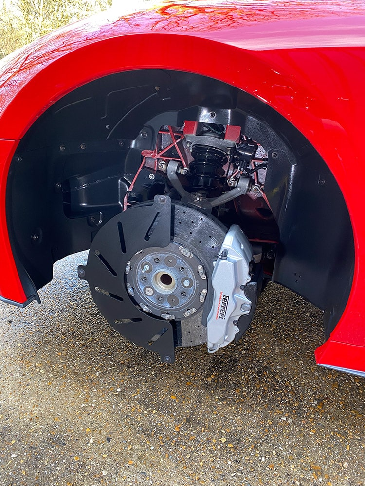 Ferrari 599 wheels brakes detailing