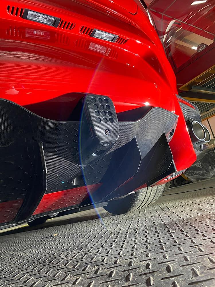Ferrari F12 TDF carbon detailing results