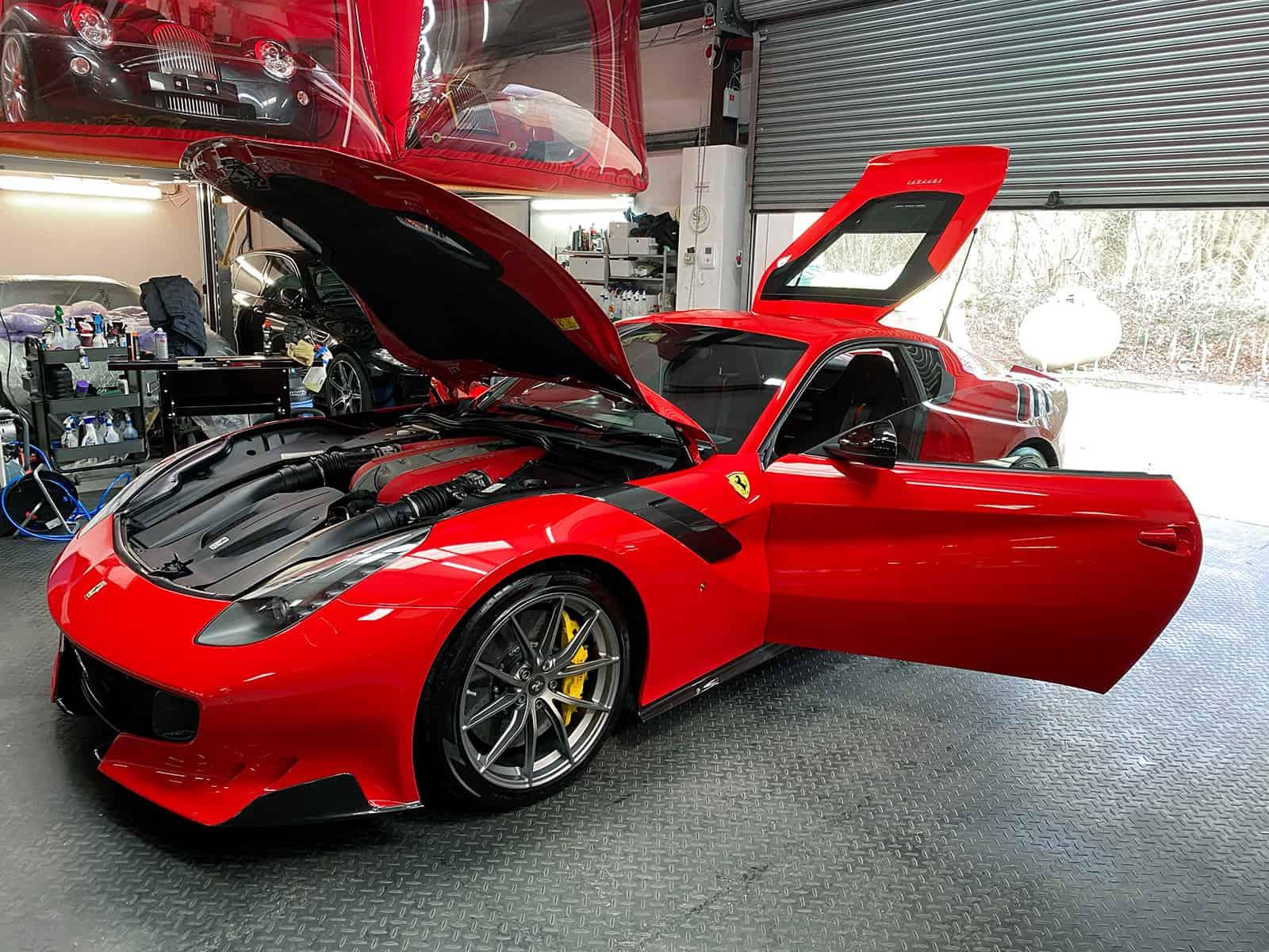 Ferrari F12 TDF detailing supercars