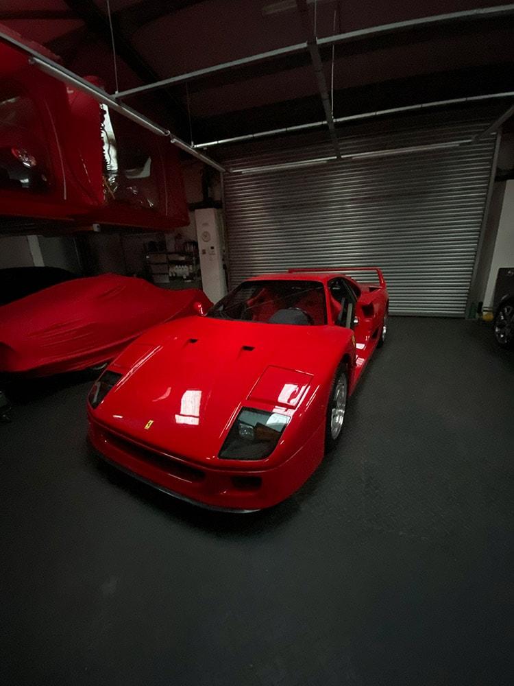 Ferrari F40 car detailing hampshire