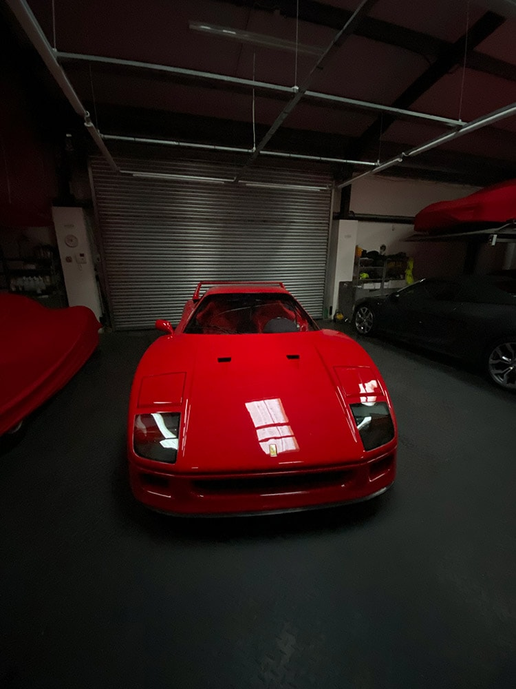 Ferrari F40 car detailing south UK