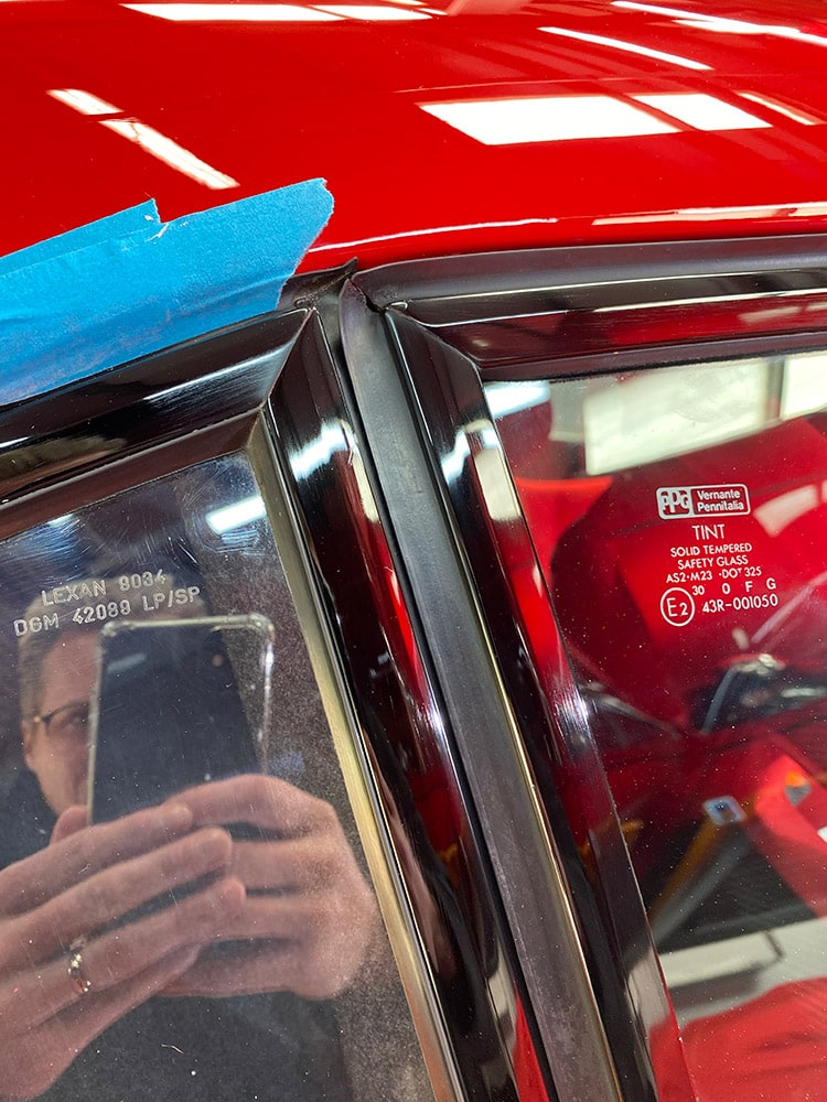 Ferrari F40 lexan detailing