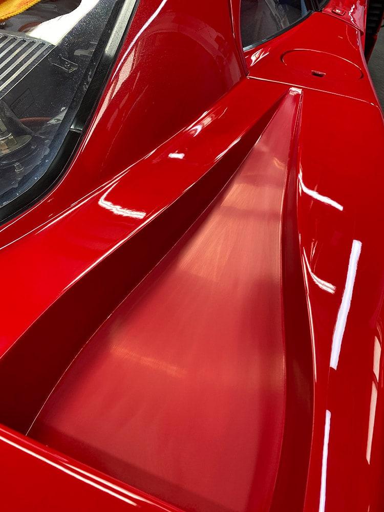 Ferrari F40 paint correction process