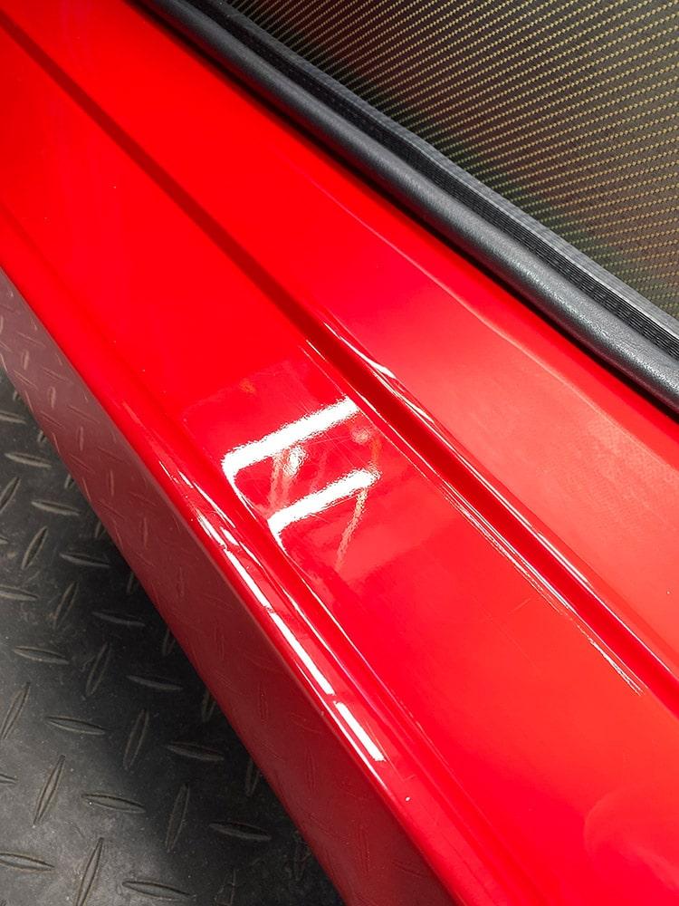 Ferrari F40 wet sanding detailing before