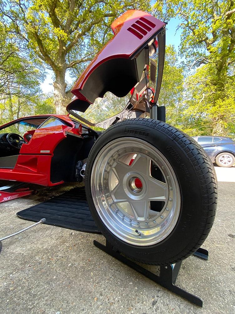 Ferrari F40 wheels ceramic coating