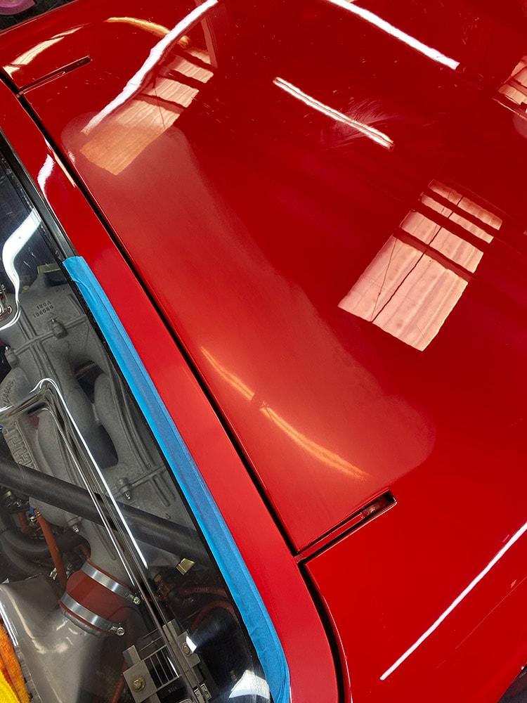Ferrari F40 windows detailing