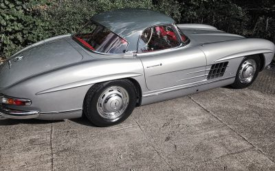 Classic Mercedes SL300 after full body restoration