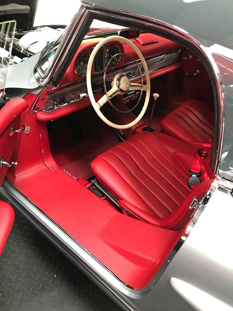 mercedes 300sl interior detailing