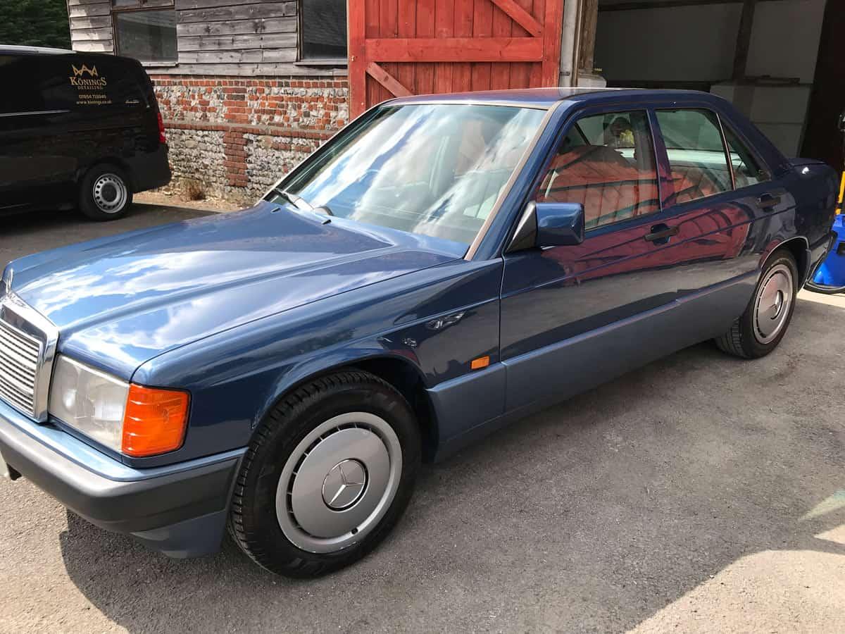 mercedes 190 car detailing finished-1