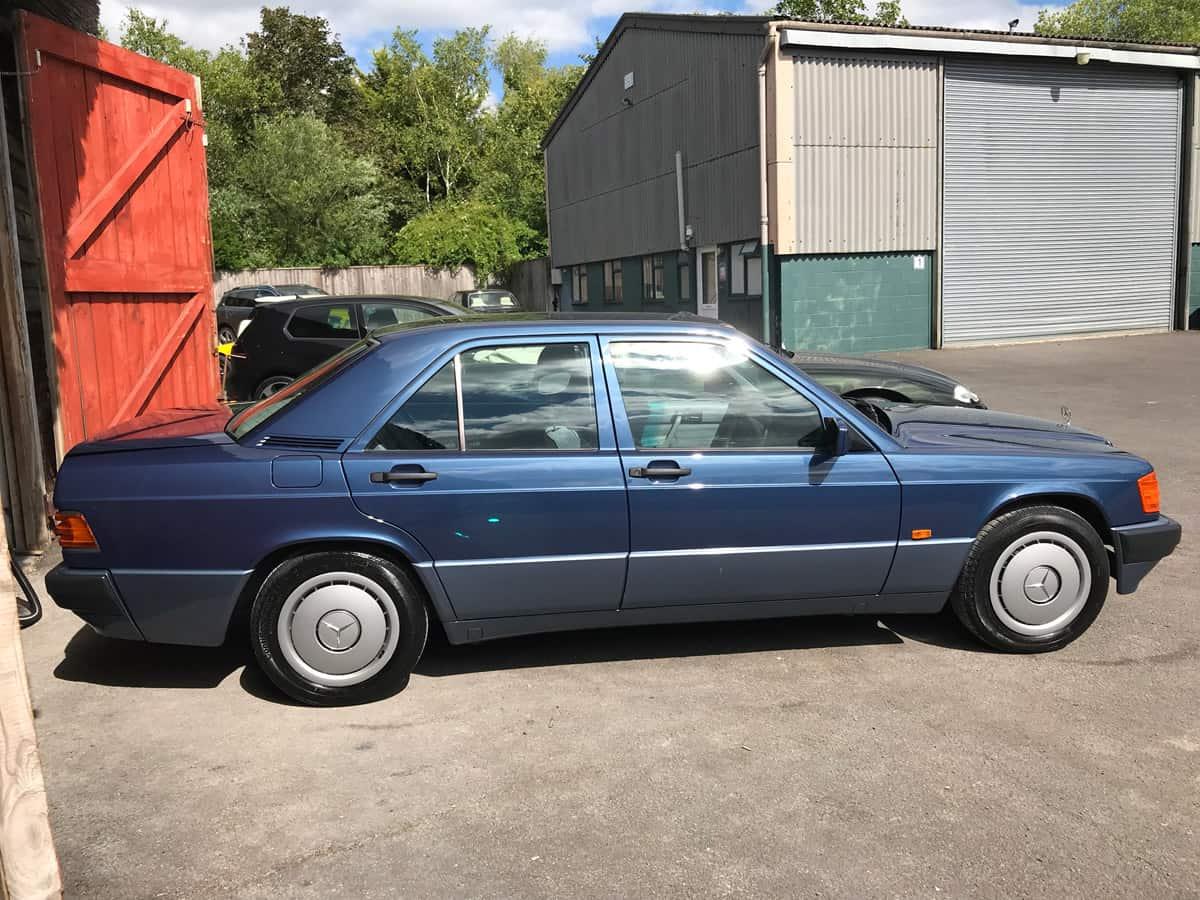 mercedes 190 car detailing finished-2