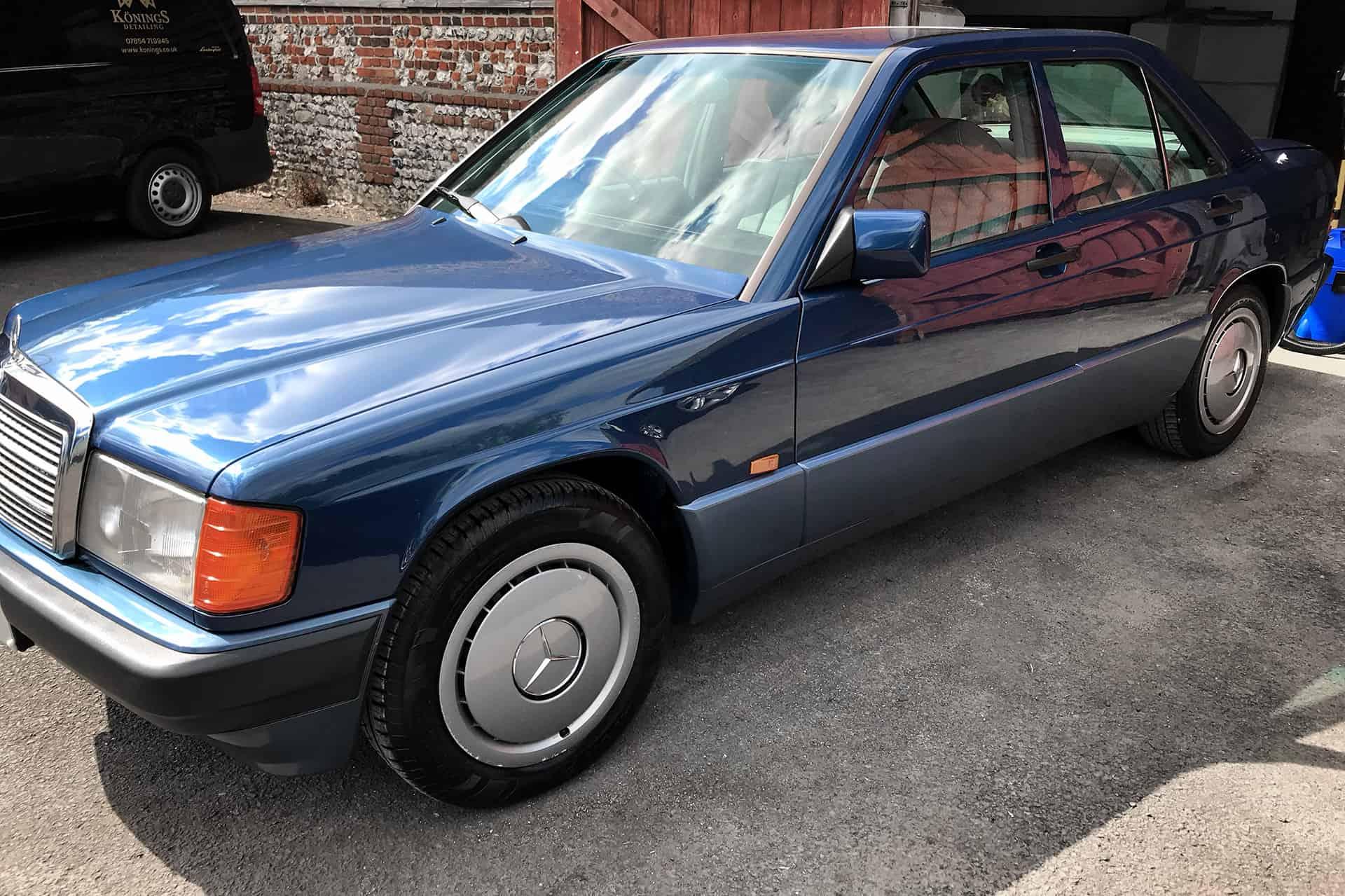 mercedes 190 car detailing hampshire